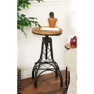 Metal Wood Adjacent Bar Stool (14 inch Wide x 28 inch High)