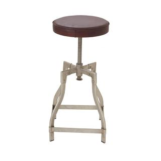 Trendy Metal Leather Adjustable Stool (13 inch Wide x 29 inch High)