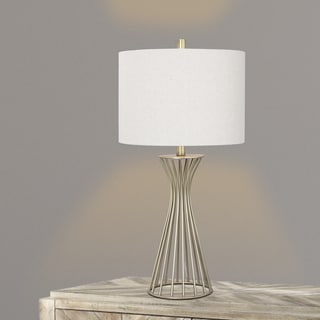 28.5-inch Metal Table Lamp In Champagne Gold.
