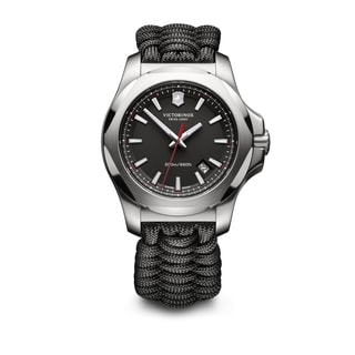 Victorinox Men's INOX Paracord 241726.1 Black Nylon and Stainless Steel Watch