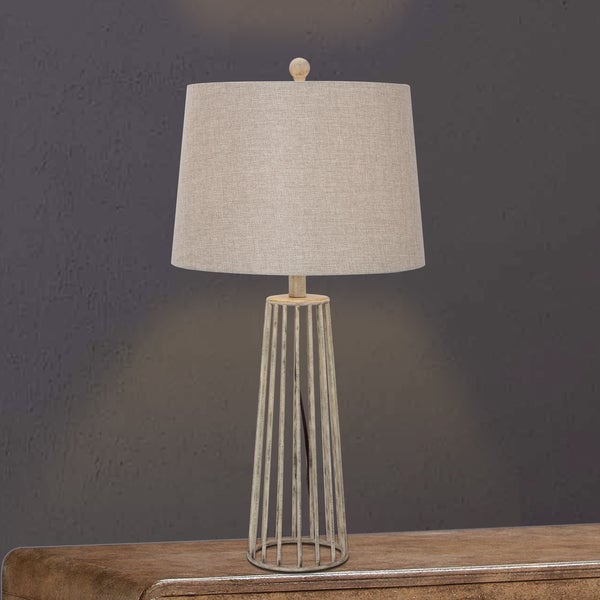 28.5-inch Metal Table Lamp in Silver Finish