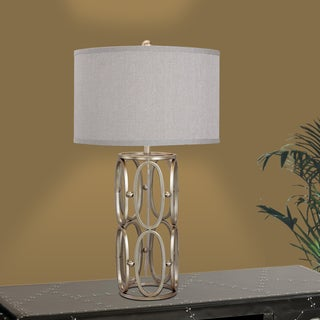 28-inch Champagne Gold Open Metal Work Table Lamp