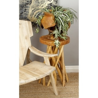 Distinctive Teak Wood Stool (18-inch Wide x 22-inch High)