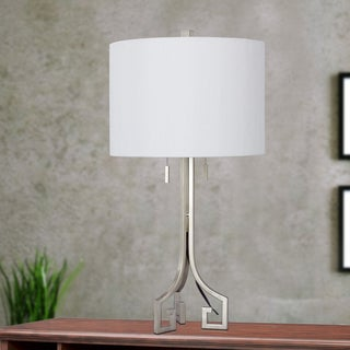 27-inch Modern Metal Table Lamp in Champagne Gold