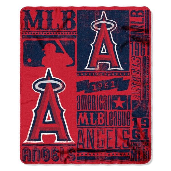 MLB 031 Angels Strength Fleece Throw
