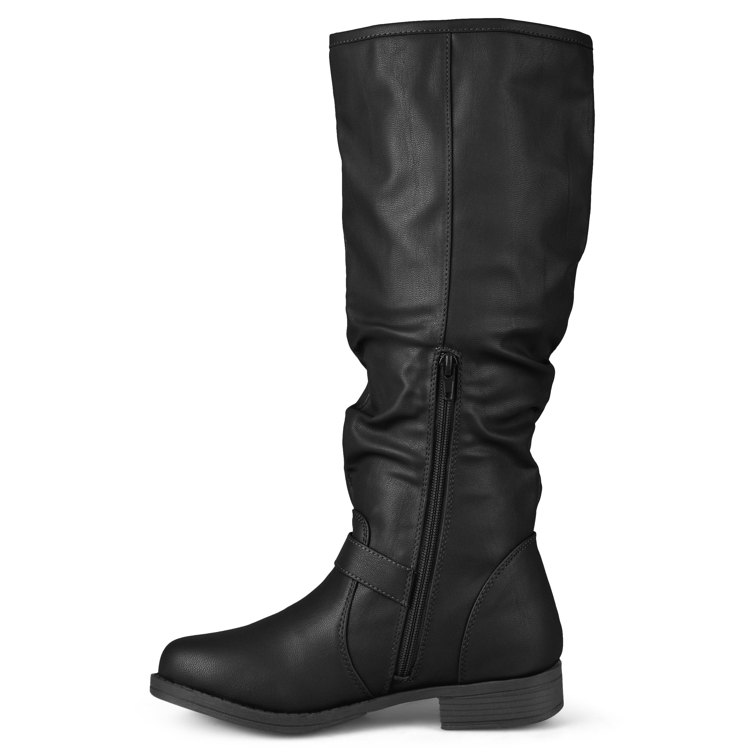 43a8a49978a Journee Collection Women s Extra Wide-Calf  Stormy  Knee-High Buckle ...