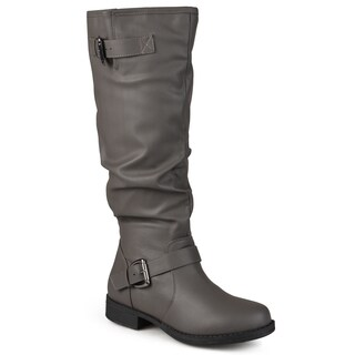 Journee Collection Women's Extra Wide-Calf 'Stormy' Knee-High Buckle Riding Boot (More options available)