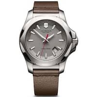 Victorinox Men's INOX  Brown Leather Watch