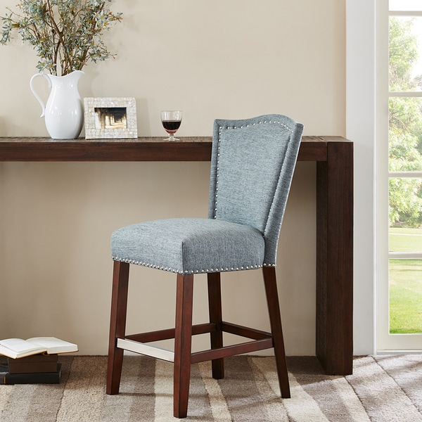 Shop Madison Park Everitt Blue Multi Counter Stool 21 Quot W