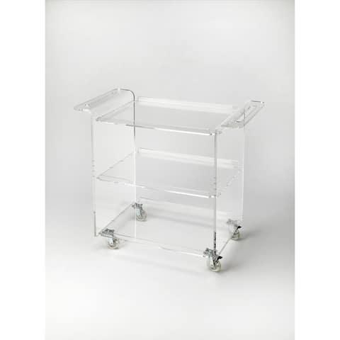 Butler Crystal Clear Acrylic Trolley Server