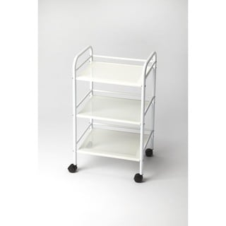 Butler Concord White Metal Serving Cart