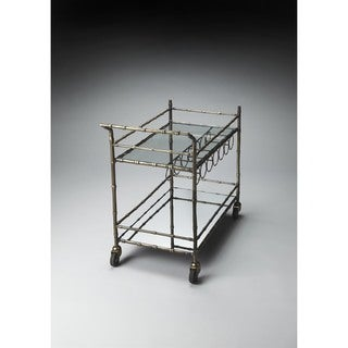 Gold Glass/Metal Butler Bar Cart