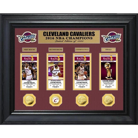 2016 NBA Finals Champions Deluxe Gold Coin & Ticket Collection - Multi-color