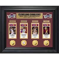 2016 NBA Finals Champions Deluxe Gold Coin & Ticket Collection