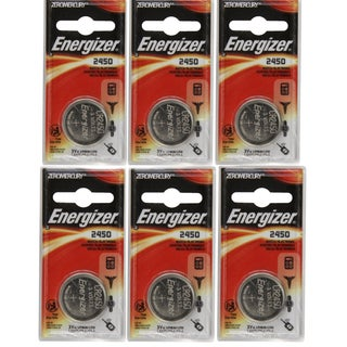 Energizer CR2450 3-Volt Lithium Battery (Pack of 6)