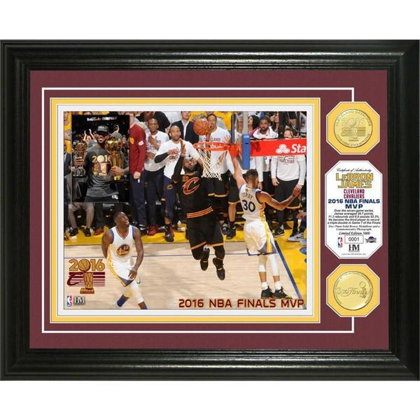 "2016 NBA Finals ""MVP"" Bronze Coin Photo Mint"