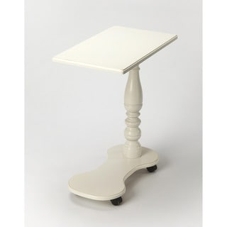 Butler Mabry Cottage White Wood Mobile Tray Table