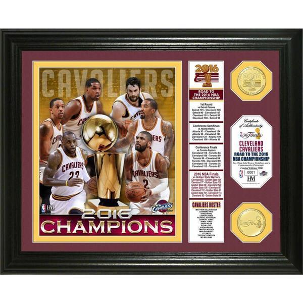 """2016 NBA Finals Champions """"Banner"""" Bronze Coin Photo Mint"""