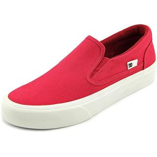 DC Shoes Women's Trase Slip-On TX Red Cotton Canvas Athletic