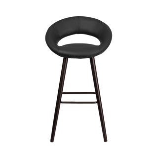 Offex Kelsey Series Vinyl 29-inch High Barstool with Cappuccino Wood Frame