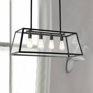 Kitchen pendant lighting for less overstock light society morley black iron glass chandelier aloadofball Gallery