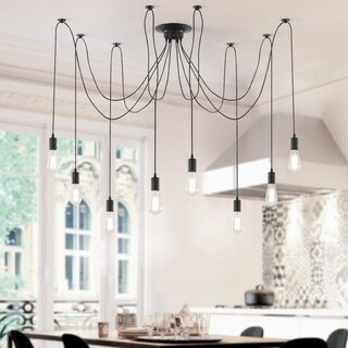 Light Society Tentacle Black Iron 10-light Chandelier