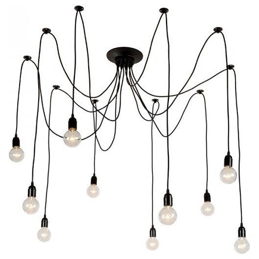Light society tentacle black iron 10 light chandelier free light society tentacle black iron 10 light chandelier aloadofball Image collections