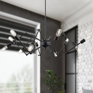 Light Society Arachnid Black Iron/Metal Chandelier