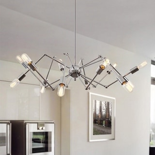 Light Society Arachnid Chrome Chandelier