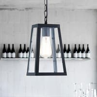 Light Society Serendipity Black/Clear Glass/Iron/Metal Pendant Lamp