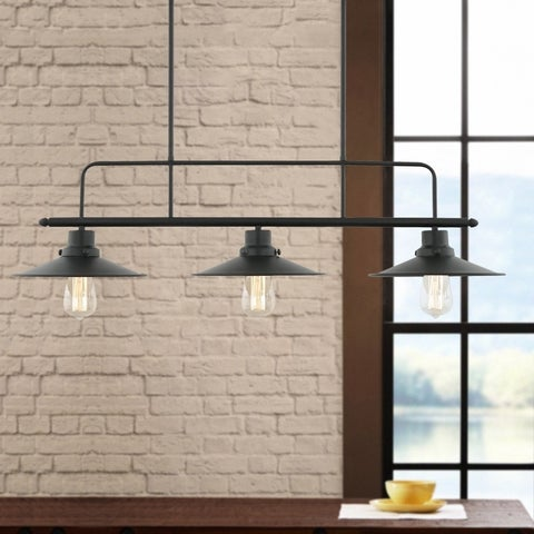 Light Society Margaux Black Iron Island Pendant Lamp