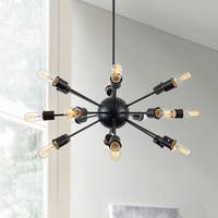 Light Society Sputnik Black Iron/Metal Chandelier