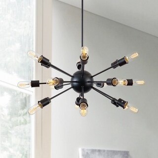 Light Society Sputnik Black Iron/Metal 18-light Chandelier