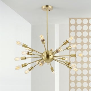 Light Society Sputnik Brass-finished Iron Metal 18-light Chandelier