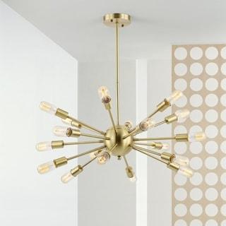 Sputnik Brass-finished Iron Metal 18-light Chandelier