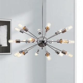 Sputnik Style Chrome Iron Chandelier