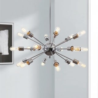 Light Society Sputnik Chrome Iron/Metal 18-light Chandelier