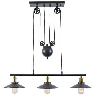 Rawley Grey Iron 3-light Pulley Pendant