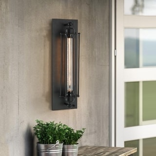 Black Iron 1-light Caged Sconce