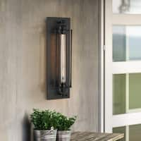 Light Society Black Iron 1-light Caged Sconce (As Is Item)