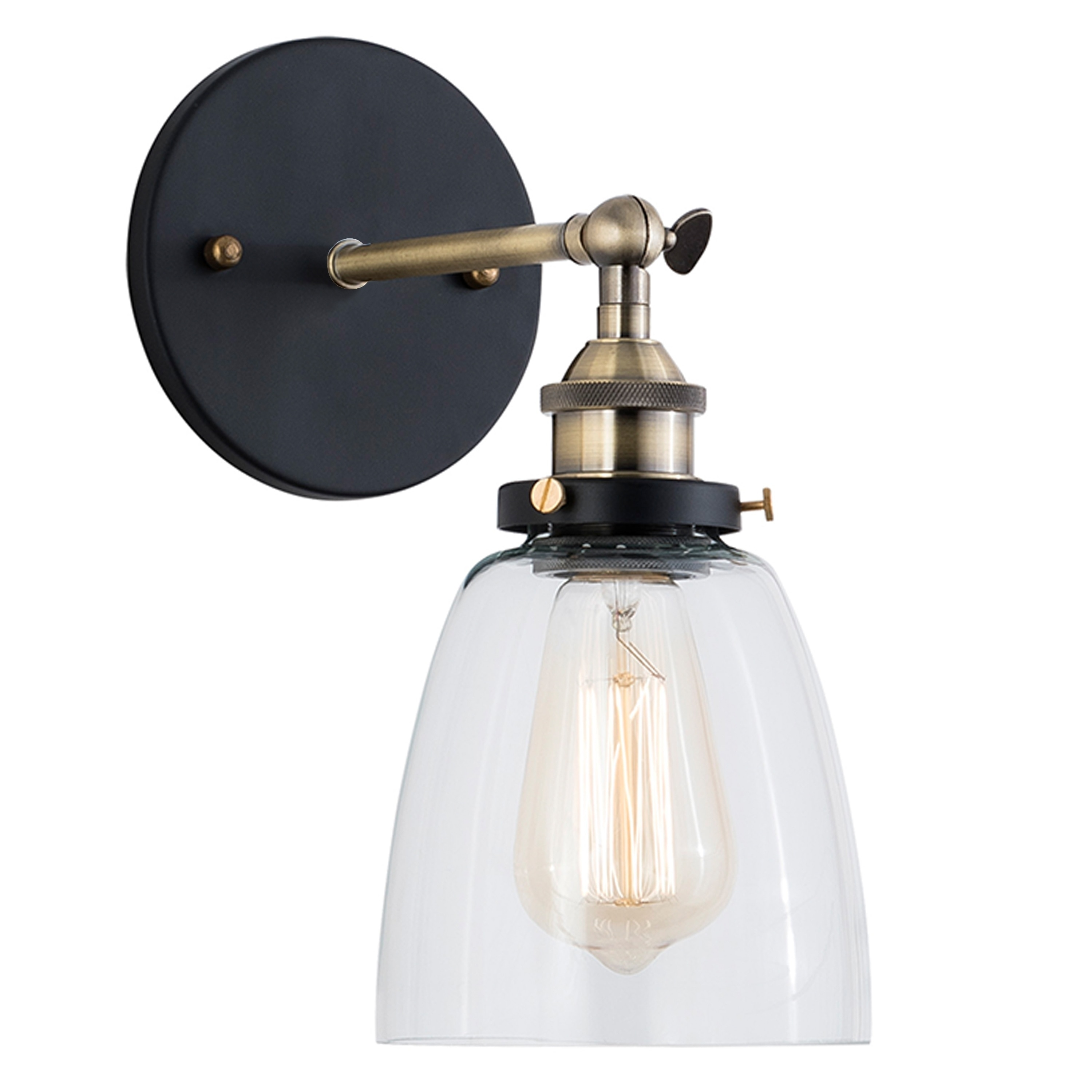 Wall Light LED Dry Rated in Satin Nickel Finish with Frosted Clear Glass Shade