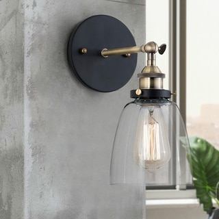 light society camberly clear glass 1light wall sconce
