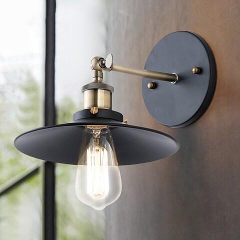 Light Society Cressley Black Aluminum/Iron 1-light Sconce