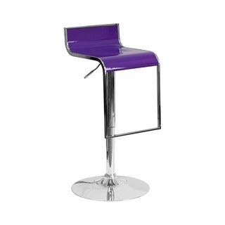Adeco Purple White Faux Leather Hydraulic Lift
