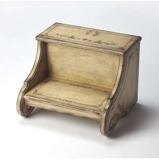 Butler Sussex Gilted Cream Brown Wood Step Stool