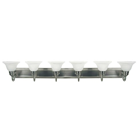 Y-Decor Monica 6-Light Vanity Light in Satin Nickel Finish