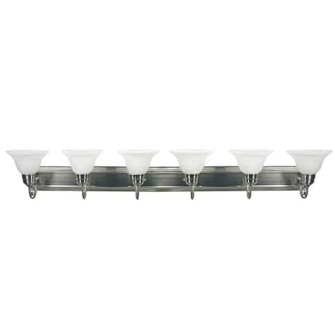 AA Warehousing Monica 6-Light Vanity Light in Satin Nickel Finish