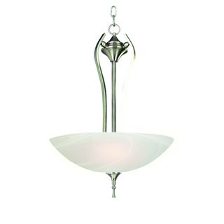 Y-Decor Rick Satin Nickel Finish 3-light Pendant Light Fixture with White Cloud Glass
