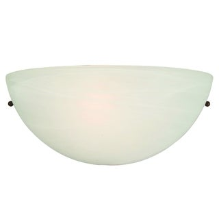 Rick Satin Nickel Metal 1-light Wall Sconce Wall Light Fixture with White Cloud Glass