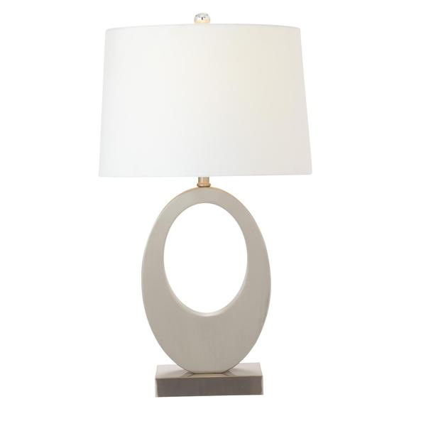 White Metal 28-inch Table Lamp